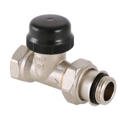 Клапан термостатический для радиатора прямой с преднастройкой