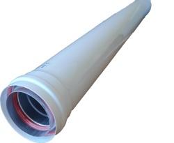 Алюминиевая труба расширеная с теплоизоляцией Ø 80-100 L 1000 mm арт. Рт-80/100-1000