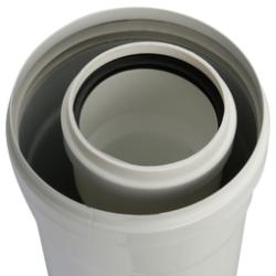 Элемент дымохода конденсац. STOUT труба  500 мм DN60/100 м/п PP-FE