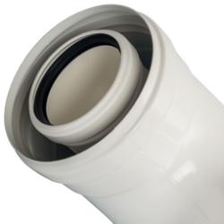Элемент дымохода конденсац.STOUT колено 90°/ адаптер 90° DN60/100 м/п PP-FE (Baxi,Viessmann)