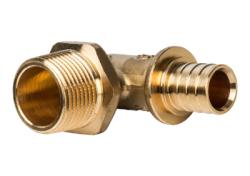 Угольник-переходник с наружной резьбой STOUT для труб из сшитого полиэтилена