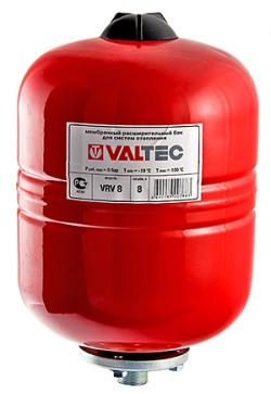Бак расширительный VALTEC для отопления 8л. (красный)