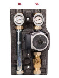 Насосно-смесительный модуль ECO МК DN 20 c насосом GrundfosUPS 15-65