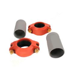 Муфты Victaulic на трубы с резьбой,  для подключения насосной группы Meibes