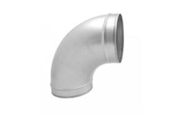 Алюминиевый отвод с теплоизоляцией  Ø 80-100 90°