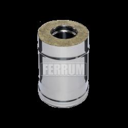 Сэндвич Ferrum 0,25м (430/0,8 мм + оц.) ф130х200