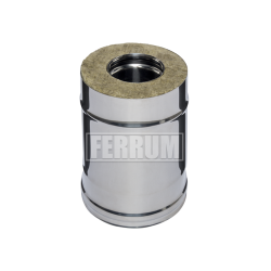 Сэндвич Ferrum 0,25м (430/0,8 мм + нерж.) ф150х250