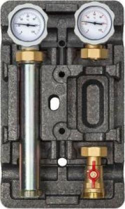 Насосная группа TIM с трёхходовым смесительным клапаном (подача слева) без насоса ZEISSLER