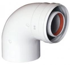 Отвод 90 градусов M/F D 80 для газовых котлов Ariston. Артикул 3318019