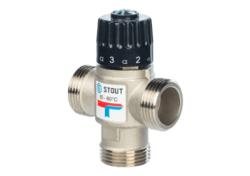 """Термостатический смесительный клапан STOUT G 1"""" НР 20-43°С KVS 2,5"""
