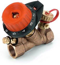 """750404Балансировочный клапан Comap 750 с 1 измерительным ниппелем и с 1 дренажом 1/2"""" DN15 0,1-4,47"""