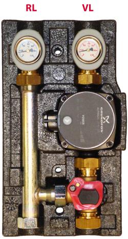 101.20.018.01 GF Насосно-смесительный модуль ECO МК DN 20 c насосом Grundfos UPS 15-65