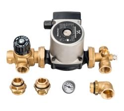 Комплект STOUT для насосной группы с термостатическим клапаном