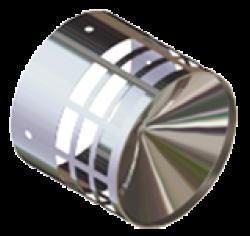 STOUT Элемент дымохода решетка из нержавеющей стали DN80 для дымоотводящей трубы