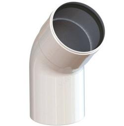 Колено алюминиевое 45 гр. д.80 мм (папа/мама) SAMRISE