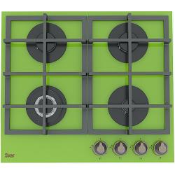 Газовая варочная панель SVAR GG4_750229F-TC-080 S (зеленая, закаленное стекло)