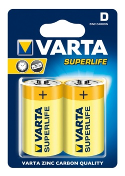 Батарейки VARTA Superlife R20 BL2