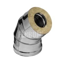 Сэндвич-колено Ferrum 135° из оцинкованной стали (0,8 мм)